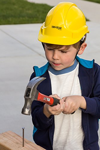 Child Hard Hat - Ages 2 to 6 - Kids Yellow Safety Construction Helmet Costume by TorxGear Kids (Image #4)