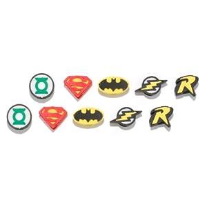 DC Comic Pencil Top Erasers 10 pieces - Superman, Batman, Robin, Flash, and Green Lantern