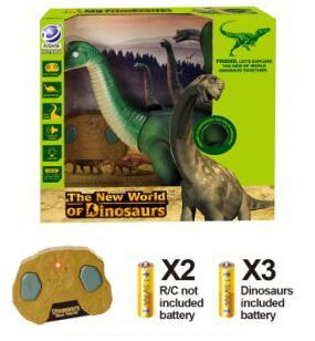 Liberty Imports Dino Planet Remote Control R/C Walking Dinosaur Toy with Shaking Head, Light Up Eyes and Sounds (Brachiosaurus) by Liberty Imports (Image #4)