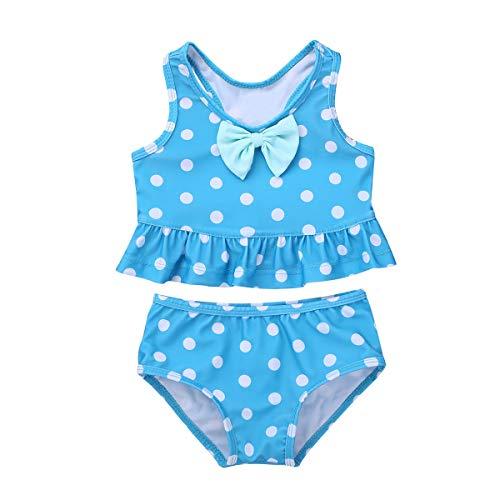 Blue Polka Dots Bikini Set in Australia - 2