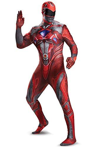 (Disguise 2017 Red Ranger Bodysuit Adult Costume-Medium)