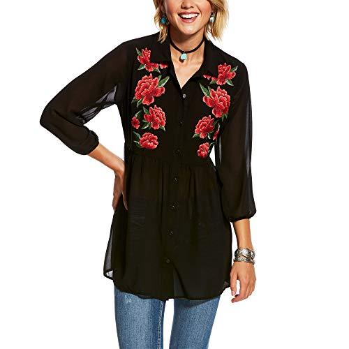 ARIAT Women's Rosey Tunic Black Size 2XL