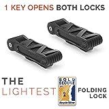 Seatylock Foldylock Compact Lock for Bicycles, Sold Secure Silver Approved Heavy-Duty Bike Lock, Set of 2 Locks and 6 Keys (All Keys are Keyed Alike)