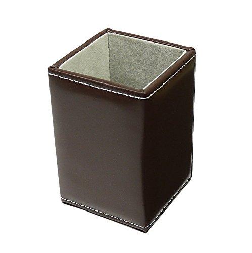 パール(Pearl) デザイン小物 ブラウン 10.0×6.6×6.6cm メガネスタンド スクエア