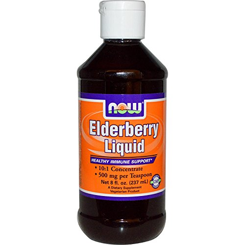 Elderberry Liquid, 8 oz by Now Foods (Pack of 4) by NOW Foods