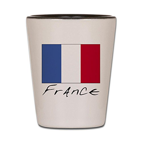 CafePress - France (Flag, International) - Shot Glass, Unique and Funny Shot Glass