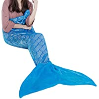 LANGRIA Mermaid Tail Blanket for Adults and Children Soft...