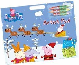 Anker - Ank2410/pexar - Kit De Loisirs Créatifs - Cahier D'artiste - Peppa Pig À Noël