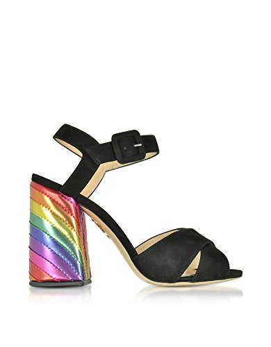 charlotte olympia Women's C1856801110 Black Suede Sandals