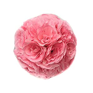 MicroMall(TM) 9.84 Inch Romantic Rose Pomander Flower Balls for Wedding Centerpieces Decorations Multicolour (Pink) 90