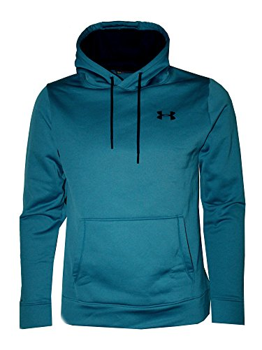 Under Armour Mens Storm Fleece Lined Hoodie Athletic Hooded Shirt (Bayou Blue, L)