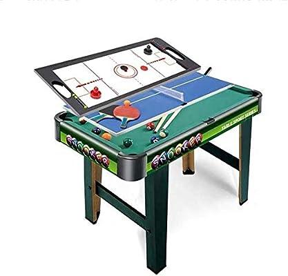 YUHT Mesa multijuegos,Combinación de Varios Juegos de Mesas de Juego de Interior Tabla 3 en 1 Entretenimiento Mesa de 32