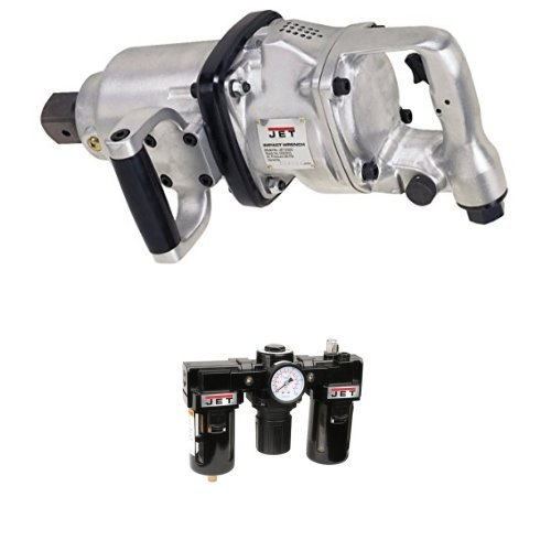 """Jet JET-5000 1-1/2-Inch Impact Wrench with JFRL-12, Air Filter/Regulator/Lubricator, 1/2"""" NPT Fittings"""