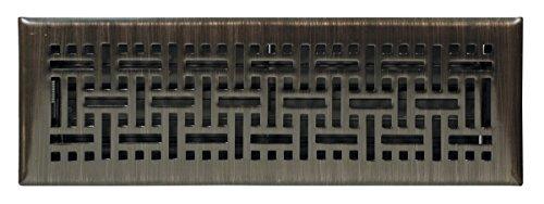 Accord Ventilation AMFRRBB214 Wicker Design Floor Register, Oil Rubbed Bronze, 2