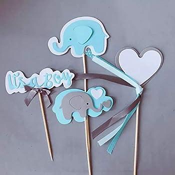 Elephant figurine baby shower gift blue elephant elephant gifts elephant decor cake topper fondant or cold porcelain elephant lover