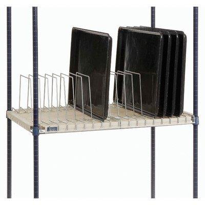"""Nexel Tray Drying/Storage Rack, Clear Epoxy Finish, 24"""" W x"""