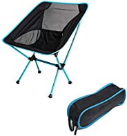 Portable Folding Camping Chair, Compact Backpacking Travel Chair with Heavy Duty, Ultralight Outdoor Chair, Pa