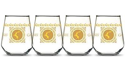 Game of Thrones GOT House Baratheon Banner Tabletop Wine Glass - Four Standard 15 oz Wine Glasses