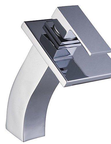 Moderne Chrom-Finish Einhand-WasserfaÖl Waschbecken Wasserhahn
