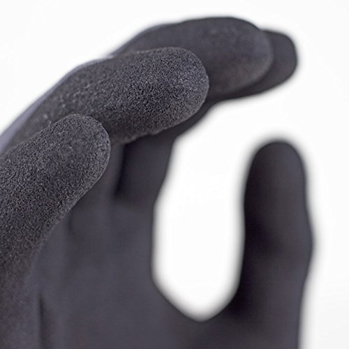 MicroFoam Nitrile Coated Work Gloves for General Purposes, Lightweight Work Gloves, 12 Pair Pack, Large