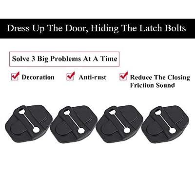 YOCTM Door Lock Decoration Cover For 2020 2020 2020 Jeep Wrangler JL JLU Unlimited Sahara Sports Rubicon 2020 Gladiator JT Door Lock Cover Sticker Auto Parts Accessories Black ABS (4Door) (Pack of 6): Automotive