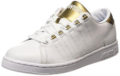 K-Swiss Women's Lozan III Fashion Sneaker, White/Gold, 9.5 M US