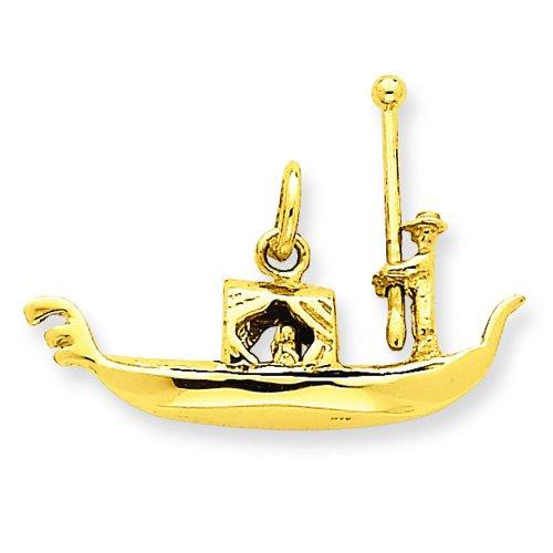 14K Yellow Gold 3D Gondola Cha