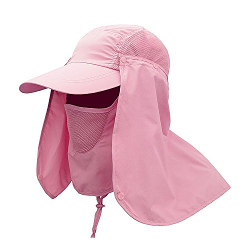 [Ezyoutdoor 1 piece Unisex Pure Color Outdoor Sport 360 Degree Summer Sun Quick-drying Sunscreen UV50+ protection fishing Riding Climbing Caps Bucket Hat Jungle hat - Great for ALL Outdoor] (Womens Army Costumes Australia)