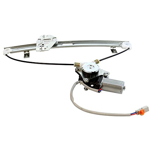 MILLION PARTS Rear Right Side Power Window Regulator with Motor for 2001 2002 2003 2004 2005 2006 Acura MDX Base/Touring Sport Utility 4-Door 3.5L ()