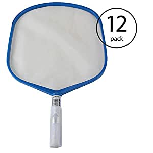 Pentair Telescopic Pole Swimming Pool Spa Hand Leaf Skimmer Mesh Net (12 Pack)