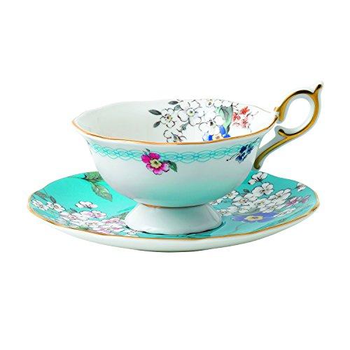 Wedgwood 40024024 Wonderlust Teacup and Saucer, 2 Piece Set, Apple Blossom Blossom Cup Saucer