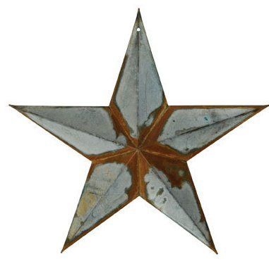 Rusty Tin Galvanized 12 Inch Barn Star