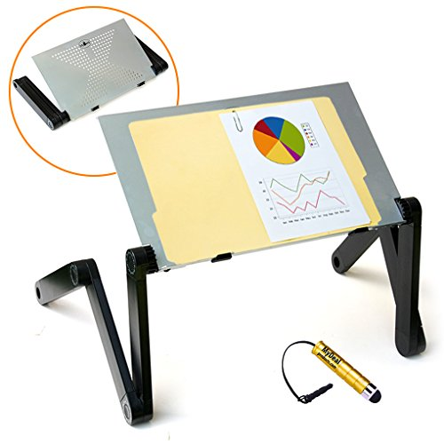 Speaker Stand Lectern (QuickLIFT Podium Portable Lectern Desktop Stand for Office / Conference with Adjustable Height for Reports / Books / PC ! Includes Stylus)