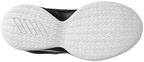 adidas Unisex Pro Spark 2018 Basketball Shoe, Black/White/Grey, 2.5 M US Little Kid by adidas (Image #3)