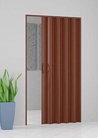 GRANISUD Puerta Plegable CORREDERA EN PVC UNA Hoja 82 cm x 204 cm Color Douglas Alto Ahorro DE Espacio: Amazon.es: Hogar