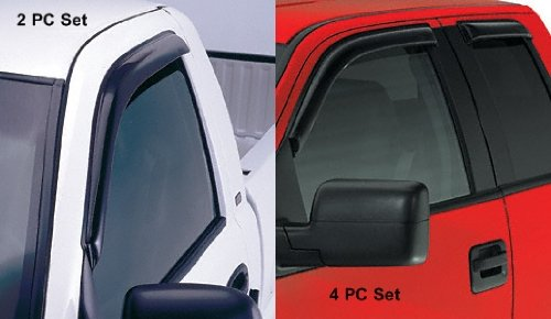 Side Window Vents For - Isuzu - Pickup - 2004-2010 - Smoke - D-Max, Double Cab (4 PC Set)
