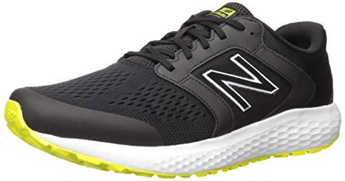 New Balance Men's 520v5 Cushioning Running Shoe, Black/Sulfur, 10.5 4E US
