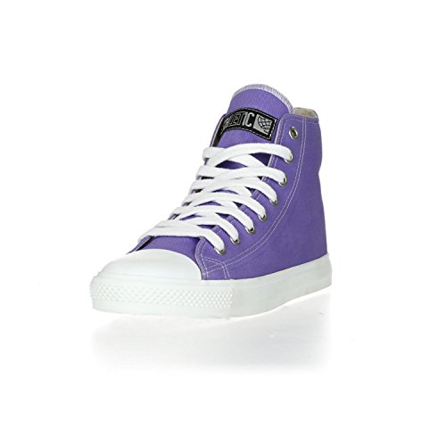 Ethletic Sneaker Vegan Hicut Collection 17 - Farbe Purple Rain/Just White Aus Bio-Baumwolle