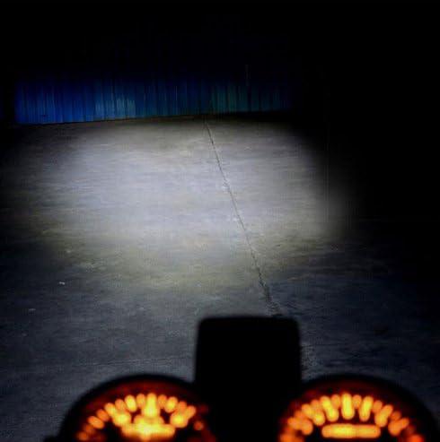 Baoblaze Headlight Bulb LED Motorcycle H4 BA20D DC 6V-80V 12W COB Beam