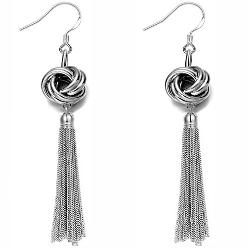 Perfect 4U Long Tassel Dangle Earrings for Girls Fringe Drop Earrings Elegant ()