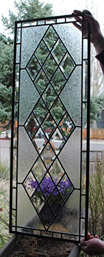 Beveled Diamond Stained Glass Window -