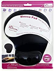 Mouse Pad with Wrist Gel Rest Support Mouse Pad Silica Gel Hand Pillow Mat- Black