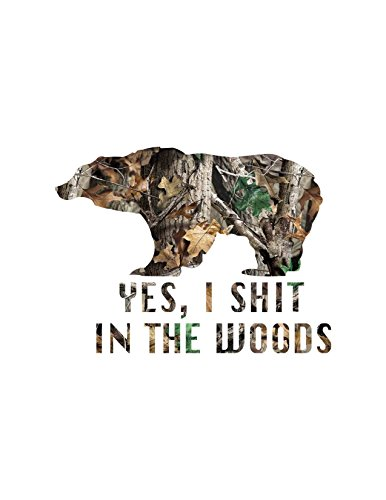 Bear Hunting Camo Decal