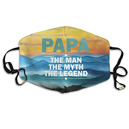 VBTY Papa The Man The Myth The Legend Reusable Anti Dust Comfort Polyester Breathable Mask,Warm Windproof Mask ()