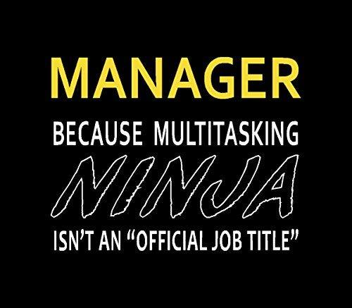 Título de Trabajo Oficial de Manager Because Ninja IsnT ...