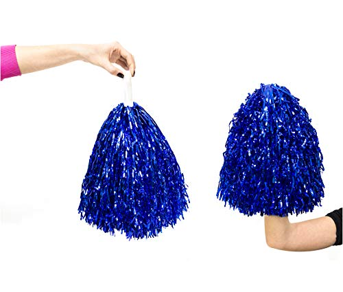 Obsessed Group Cheerleading Pom Poms (Blue) ()