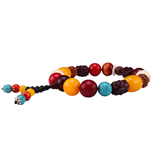 Move on Car Gear Shift Wood Buddha Beads Bracelet Rearview Mirror Hanging Ornament Decor S by Move on (Image #5)
