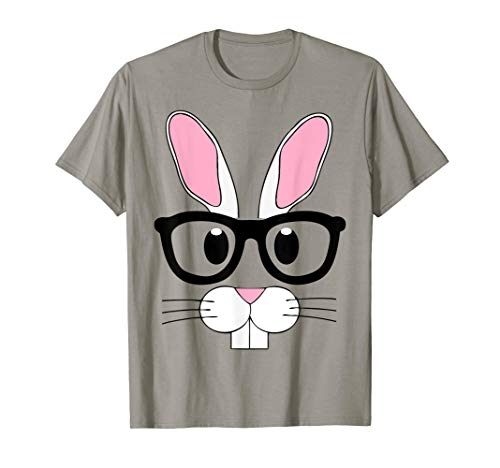 Nerd Emoji Bunny Easter Shirt Outfit Boys Girls Toddlers ()