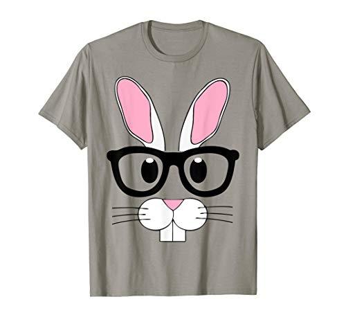 (Nerd Emoji Bunny Easter Shirt Outfit Boys Girls)