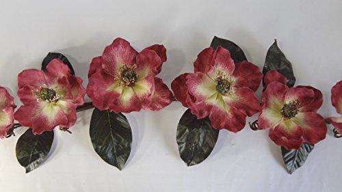 35 Inches Mauve Magnolia Swag by V-Max Floral Decor